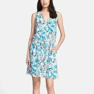Rebecca Taylor poolside aloha floral silk dress